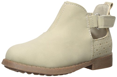 OshKosh B'Gosh Tempy Girl's Cut-Out Ankle Bootie Boot, Taupe, 8 M US Toddler