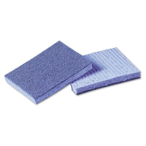 Scotch Brite Soft Scour Scrub (Scotch-Brite Soft Scour Scrub Sponge, 3 1/2 x 5 in, Blue - Includes 10 sponges per pack, 4 packs per)