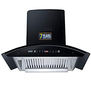 Inalsa Auto Clean, Motion Sensor Kitchen Chimney- 60 cm (Prima 60BKMAC, 1 Baffle Filter, Touch Control, Curved Glass…