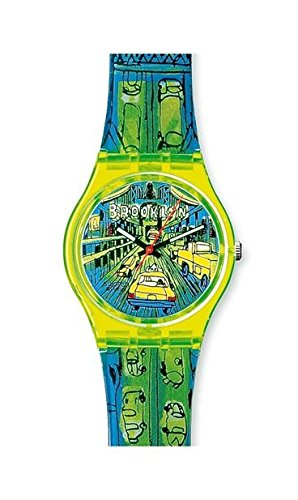 Swatch - Reloj Swatch - GJ120 - Passage TO Brooklyn - GJ120: Amazon.es: Relojes