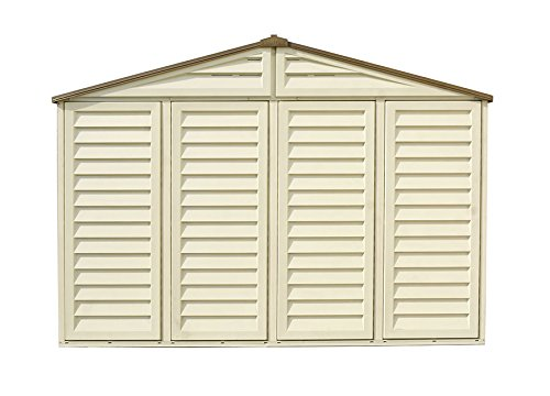 Duramax Building Products WoodBridge Plus 10 ft. x 10 ft. Vinyl Storage Shed with Foundation by Duramax (Image #5)