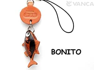 Bonito Leather Fish/SeaAnimal mobile/Cellphone Charm VANCA CRAFT-Collectible Cute Mascot Made in Japan