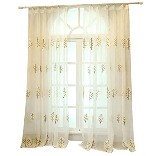 (Window Sash Korean Pastoral Embroidery Yarn Hooked Finished Curtains Living Room Bedroom Bay Window Light Transmission Yarn (Size : Width 150height 270cm (Curtain)))