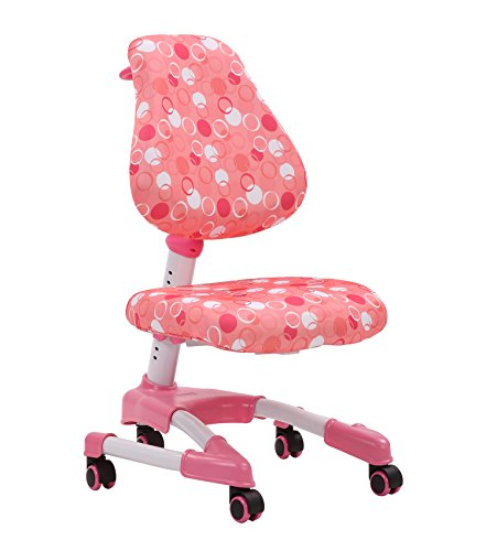 Kids Desk Chair, Big Baby Mid Back Adjustable Home Ergonomic Office Chair, Swivel Task Computer Chair with W-Casters Firm Base, Height Control Petite Size Adults Office Pulley Chair, (Mesh Pulley)