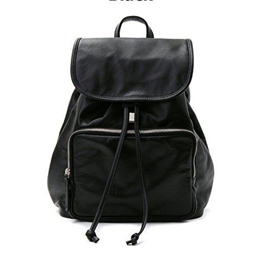 VF P905 Leather Backpack Black by Violett-Backpacks