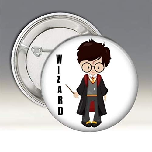 Set of 24 Pin Back Buttons Wizard Witch Boy Girl Gender Reveal,Baby Shower Party Favor FREE SHIPPING 1-3//4 Round Pinback