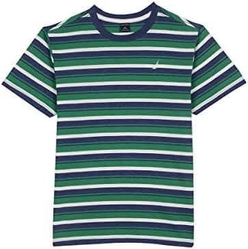 Nautica Boys' Short Sleeve Multi Stripe Crewneck Tee