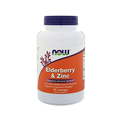 NOW Elderberry and Zinc, 90 Lozenges (Pack of -