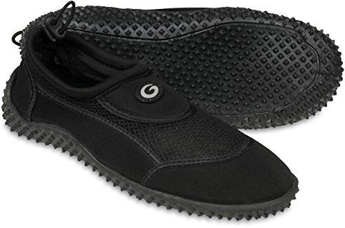 Gwinner los zapatos del agua de los hombres zapatos zapatos de Aqua Surf Negro