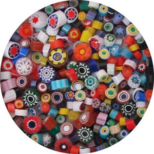 Opaque And Transparent Millefiori Assortment - 104 Coe - Millefiori Mosaic Art Glass