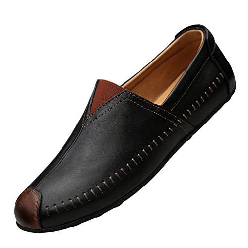 Basse On Pelle Scarpe PU Guida Business Scarpe Casual da Nero Loafers Uomo Anguang 1 Slip Mocassini ECqBBx
