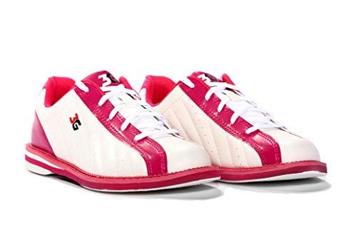 3G Women's Kicks Bowling Shoes (7, White/Pink)