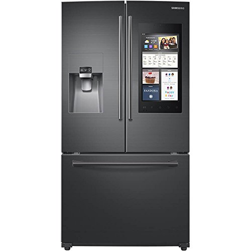 Samsung Black Stainless 24 Cu Ft Family Hub French Door Refrigerator RF265BEAESG (Stainless Fridge Samsung)