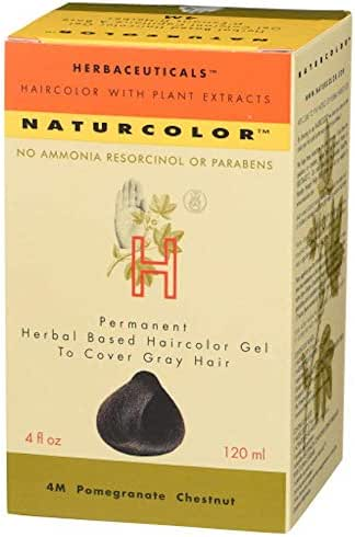 Naturcolor 4M Pomegranate Chestnut Hair Dyes, 4 Ounce