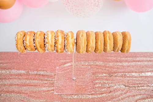 Sweet Details Party Co. 1-Tier Acrylic 'Floating Donut' Stand - Holds up to 12 Donuts - for Wedding, Birthday Party, Baby Shower, Bachelorette Party, Brunch, Dessert Table, Candy Bar -10