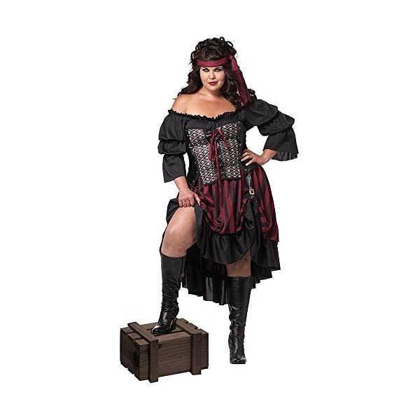 Halloween Plus-Size Pirate Wench Costume