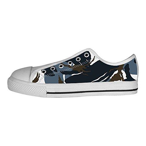 Shoes Camuffamento I Tela Alto Sopra Le Da Delle In Men's Canvas Di Custom Ginnastica Scarpe Lacci x1twnSfxdq