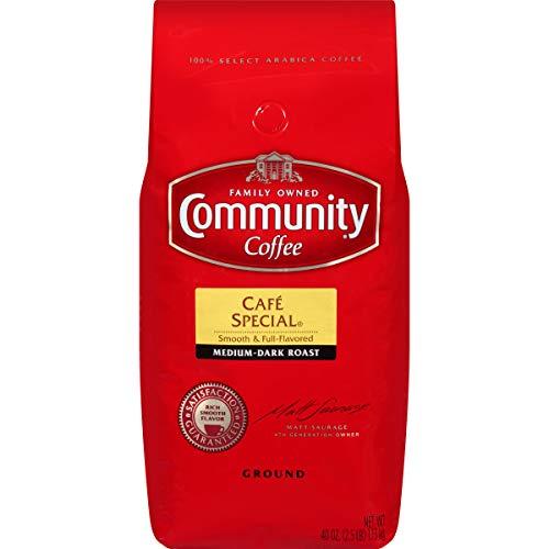 Community Coffee - Café Special Medium-Dark Roast - Premium Ground Coffee - 40 Ounce Bag