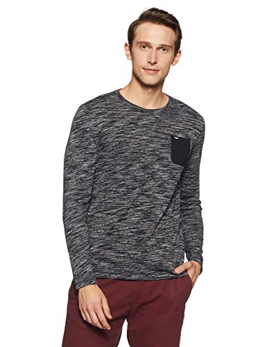Spykar Men's Printed Slim Fit T-Shirt