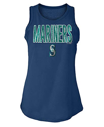 5th & Ocean Seattle Mariners Women's Mesh Back Tank Top-Shirt Small (5th And Ocean Womens Shirt)