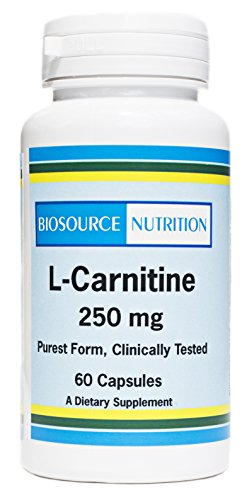 Biosource Nutrition L-Carnitine 250 mg 60 Capsules