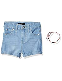 DKNY Pantalones Cortos de Mezclilla elastizados con Dobladillo con puños para niñas