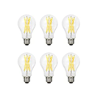 SYLVANIA General Lighting 40808, Soft White SYLVANIA LED A21 Natural Light Series, 100W Equivalent, Efficient 13W, Dimmable, Clear Finish, 2700K Color Temperature, 6 pack