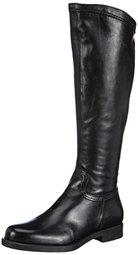 Tamaris 25579 - Botas de cuero para mujer negro negro 36 EU (3.5 Damen UK) negro - negro