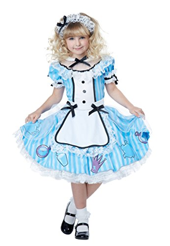 California Costumes Deluxe Alice in Wonderland Costume, Blue/White, Small
