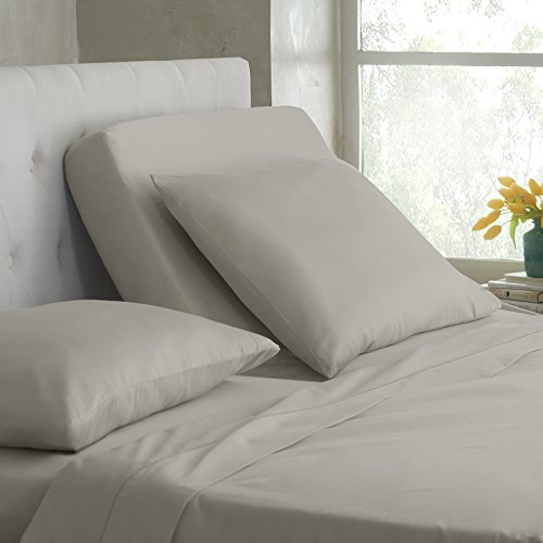 Martex Split King Sheet Set for Mattresses with Adjustable Bases, Silver Lining, 5 Piece
