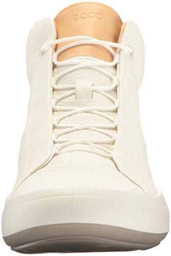 ECCO Kinhin, Zapatillas Altas para Hombre Blanco (White/veg Tan)