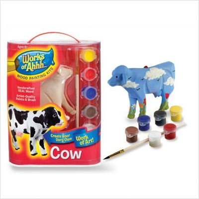 Works of Ahhh... Wood Painting Kit - Cow