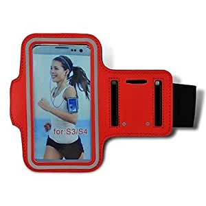Universal Running Sports Armband Gym Waterproof Bag Case Cover for Galaxy S3/S4/ i9500/ i9300 , White