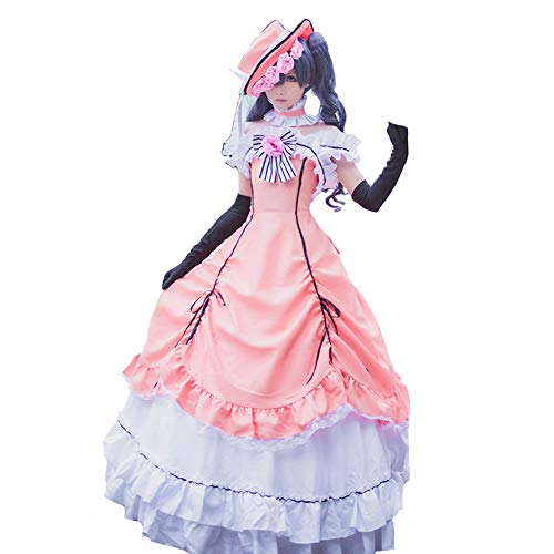 Cos Anime Black Butler Kuroshitsuji Cos Halloween Palace Woman Pink Dress Cosplay Costume (Gothic Butler Costumes)