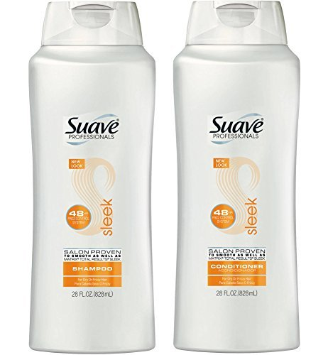 (Suave Professionals Sleek Shampoo & Conditioner, 28 Oz. Set)