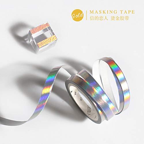 KANGBOOS Masking Tape 12pcs of Pure Color Gold Series washi Tape DIY Clip Art Photo Album School Tool Kawaii Scrapbook Paper Tape ()