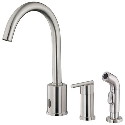 Danze D421058SS Parma Single-Handle Dual Kitchen Faucet with Side Sprayer, Stainless Steel