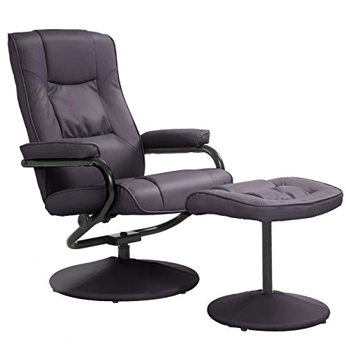 HOMCOM Executive Recliner Chair High Back Swivel Armchair Lounge Seat w//...