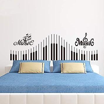Etiqueta del teclado de piano pared de la nota musical vinilo ...