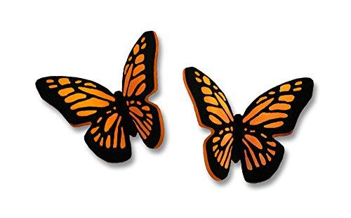 Butterfly Post Earrings (Sienna Sky Small Monarch 3D Butterfly Post Earrings 1731)