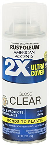 Gloss Clear Spray Paint - Rust-Oleum 327864 American Accents Ultra Cover 2X Gloss, Each, Clear