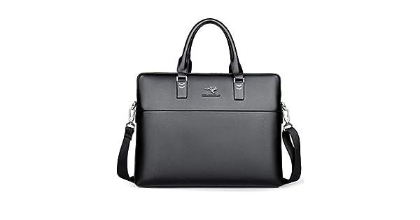 Messenger Bag Fits 14 Laptop IPad HTDZDX Men Business Briefcase Leather Case with Shoulder Strap Color : Blue