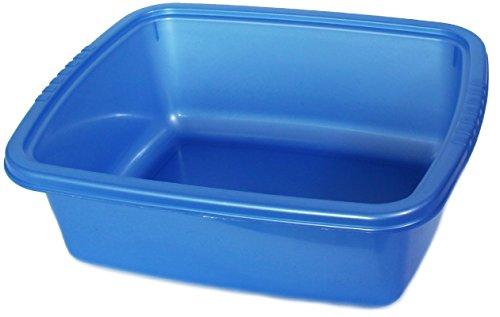 YBM Home Plastic Dish Pan Basin 5.75 in. H x 11 in. W x 13 in. L Ba430 (1, Blue) - Quart Pail Double