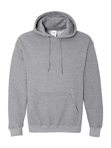 - Gildan Heavy Blend Hooded Sweatshirt - 18500_Graphite Heather_X-Large