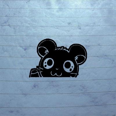 DECORATION NOTEBOOK WINDOW DECOR STICKER DECAL DIE CUT BLACK MACBOOK CAR HOME DECOR HAMTARO HAMSTER HAMSHIR LAPTOP WALL WALL ART CAR