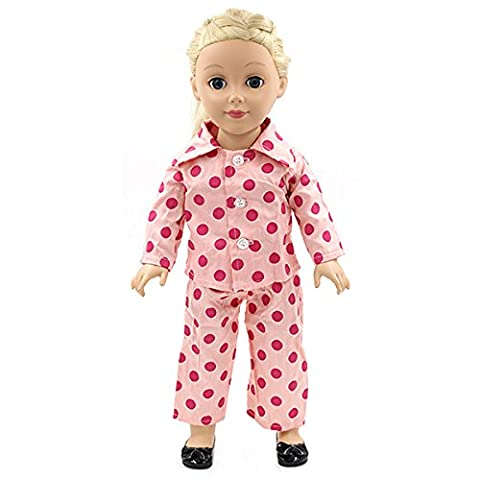 Strawberry Doll Clothes Pajama Handmade PJ For 18inch American Girl (How Do I Get More Storage On M)