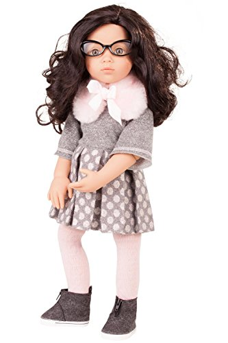 "Gotz Luisa Happy Kidz 19.5"" Poseable Multi-Jointed Limited Edition Brunette Doll with Stone Grey Eyes"