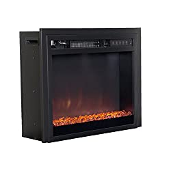 CorLiving Electric Fireplace Insert, Black by CorBrands Distribution LLC