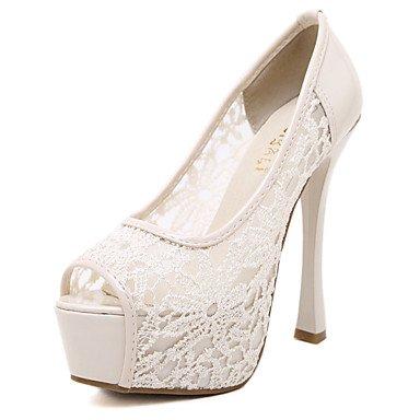 LvYuan sandalias del partido de las zapatos del club de caída comodidad de boda de tul verano&vestido de noche del tacón de aguja dividida Pink