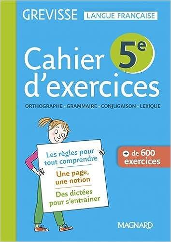 Amazon Fr Francais 5e Grevisse Cahier De L Eleve